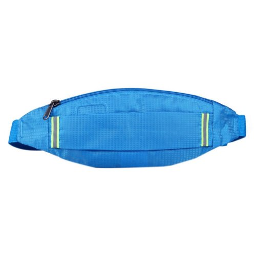 Outdoor Sports And Leisure Large Capacity Fashion Waist Bags, Sky Blue