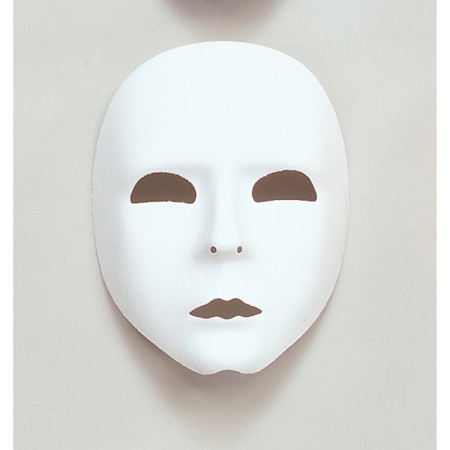 Plain White Theatrical Face Mask -