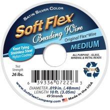 "Soft Flex Wire 49-Strand .019""X10'-Silver"