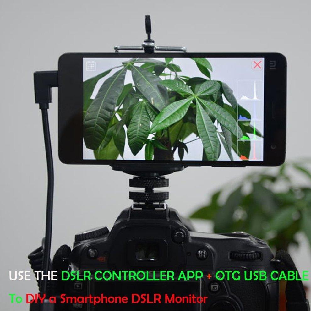Fantaseal DSLR Camera Hot Shoe Mount Smartphone Monitor Mount Smartphone  Clamp Clip Hot Shoe Mount (UP to 5 5