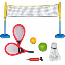 deAO Racket Sports 3 in 1 Playset Tennis, Badminton and Squash Games