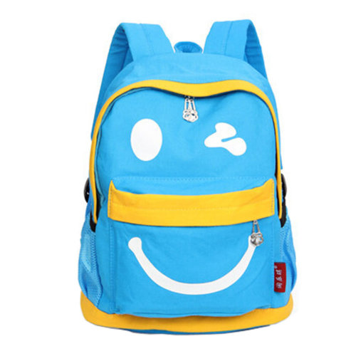 Smiling Face Little Kid Backpack Kids Boys Girls Backpack,blue