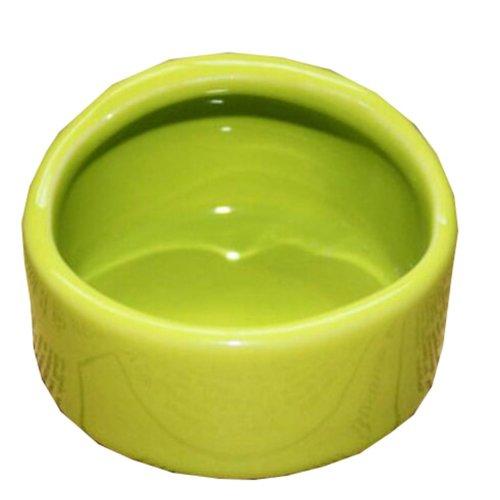 Pet Supplies One Ceramic Feeding Pot Anti-splash Food Bowl Water Box For Squirrel Hedgehog Hamster 7.5x5.5CM(Green)