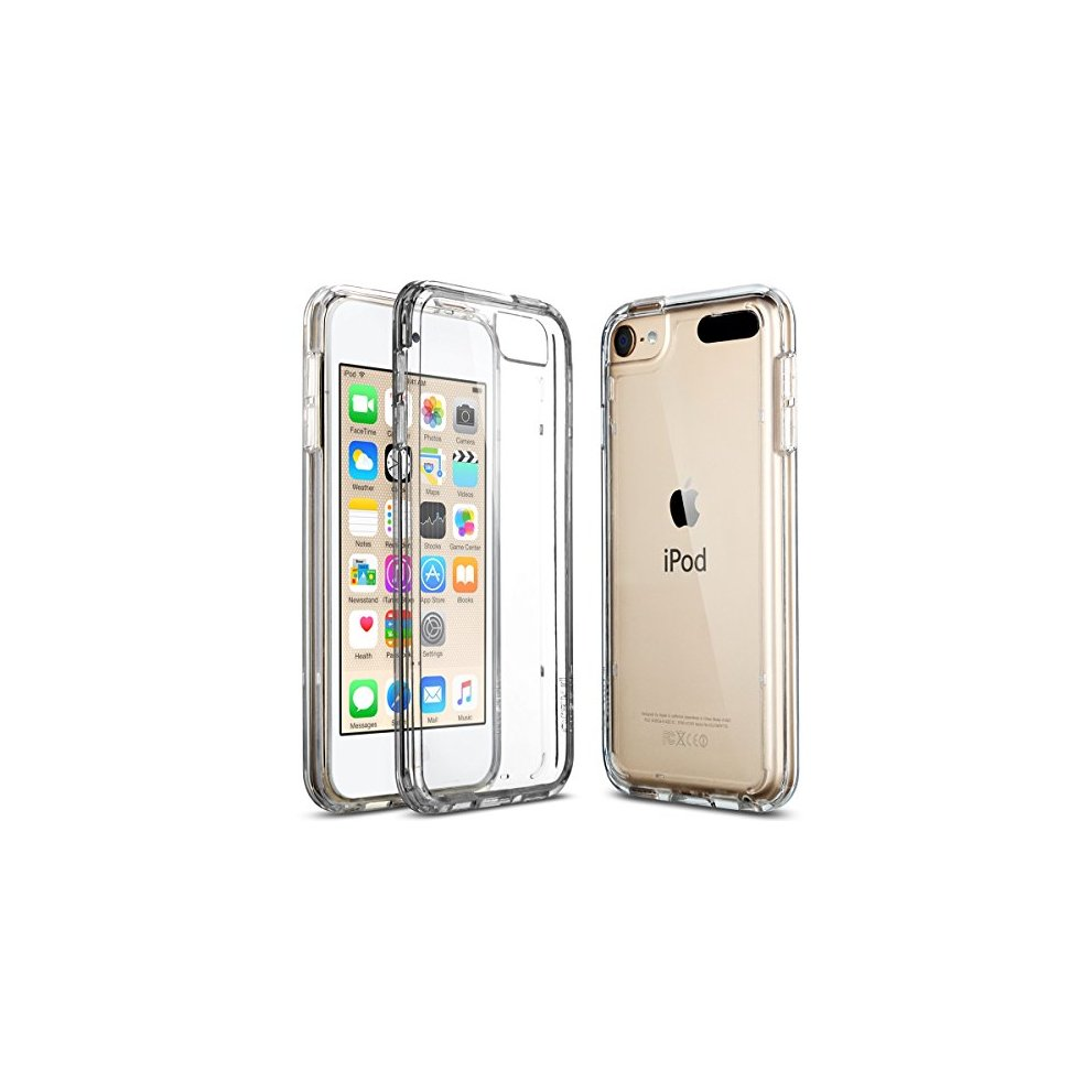 watch ee9ec 1bcaf ULAK iPod Touch 6 5 Case CLEAR SLIM High Quality Soft TPU Bumper Case  Shockproof Cover for 6th Generation 2015 Released Clear