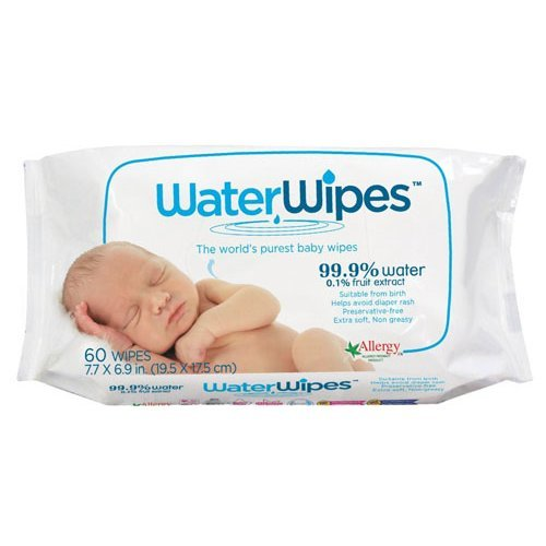 DermaH20  Water Wipes - Worlds Purest Baby Wipes 60s