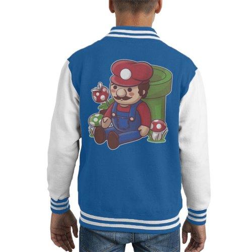Teddy Plumber Super Mario Kid's Varsity Jacket