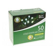 50 Cold White LED Solar String Lights - Indoor Outdoor Christmas -  50 cold white led solar string lights indoor outdoor christmas