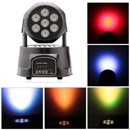70W LED RGBW Moving Head Light DMX512 Stage Beam Light Effect Lamp