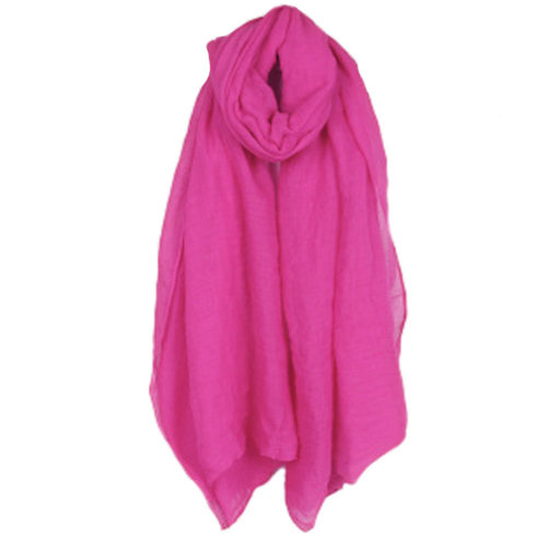 Womens Fashion Solid Scarves Comfortable Scarf Shawl Wrap, Rose Red