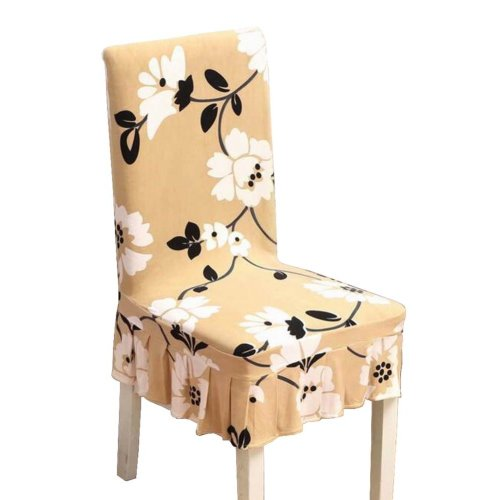 [Flowers-10] Stretch Dining Chair Slipcover Chair Cover Chair Protector