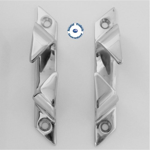 Pair of Mirror Polished Stainless Steel Fairleads 152mm