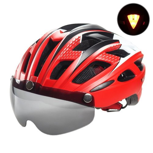 Victgoal Cycle Bike Helmet Detachable Magnetic Goggles Visor Shield Women Men, Cycling Mountain & Road Bicycle Helmets Adjustable Adult Safety...