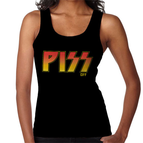 Piss Off Kiss Logo Women's Vest