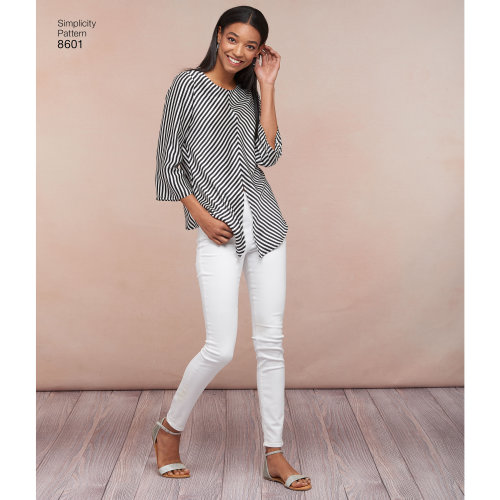 Simplicity Misses' Pullover Tops-6-8-10-12-14
