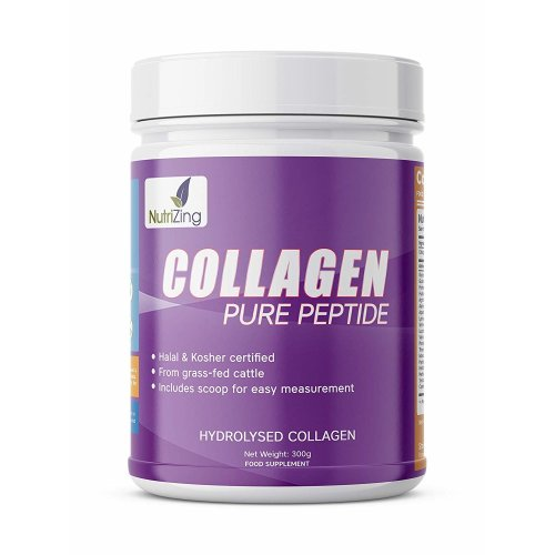 Collagen Protein by NutriZing - From Grass Fed Cattle - Halal & Kosher