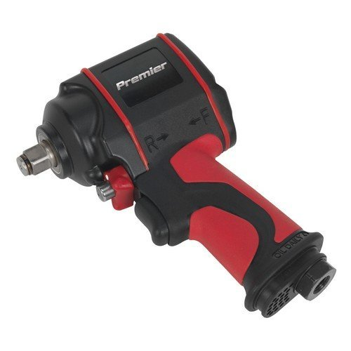 "Sealey SA6002S Air Impact Wrench 1/2""Sq Drive Stubby Twin Hammer"
