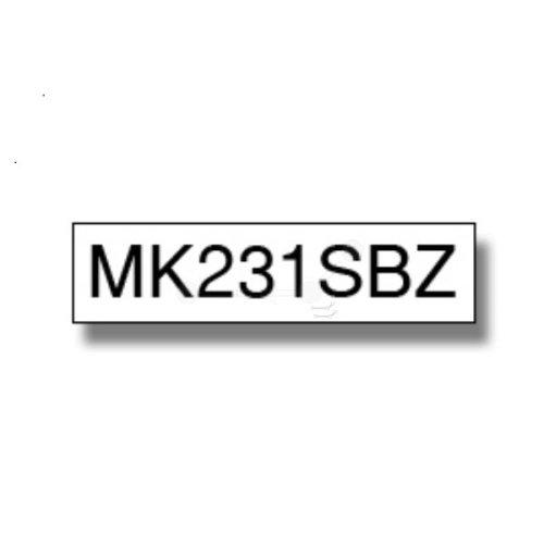Brother MK-231SBZ P-Touch Ribbon, 12mm x 4m