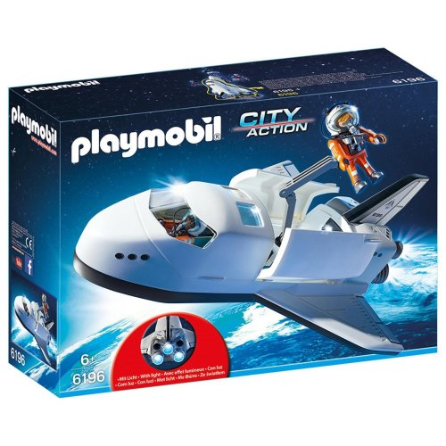 Playmobil 6196 City Action Space Shuttle with Light-up Boosters