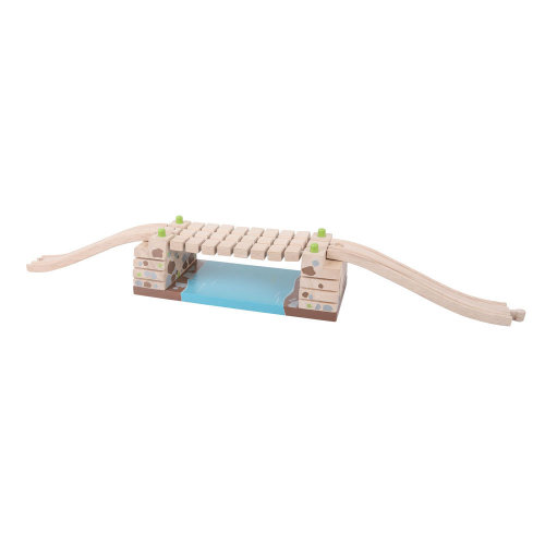 Bigjigs Rail Clickety Clack Bridge - Other Major Wooden Rail Brands are Compatible