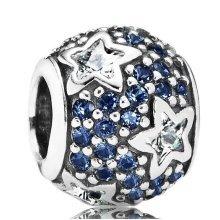 Pandora Midnight Blue Pave Stars Charm - 791382CZ