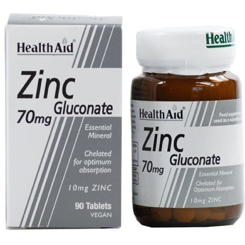 Healthaid Zinc Gluconate 70mg (10mg Elemental Zinc)   Tablets 90's