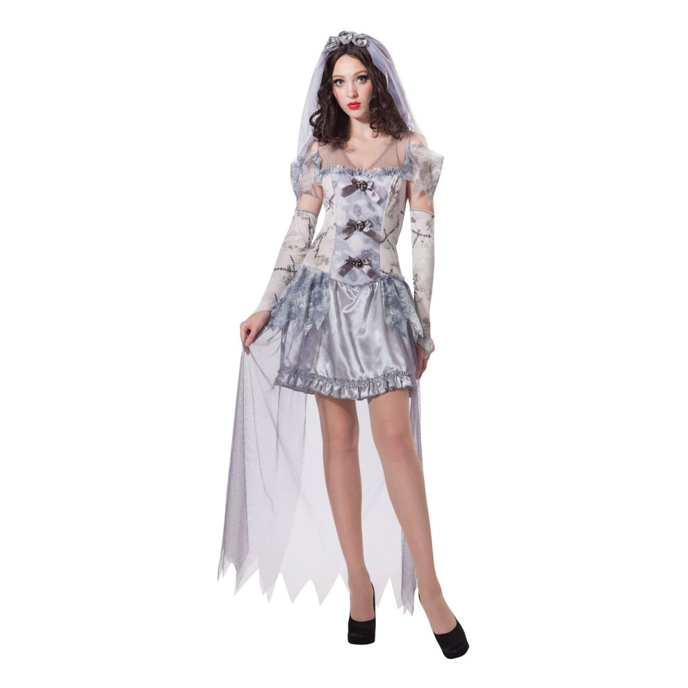 Halloween Bride.Ghost Bride Dress Fancy Halloween Costume Ladies Zombie Outfit Size Corpse Dress Fancy Bride Halloween Ghost Costume Ladies Zombie Outfit Size