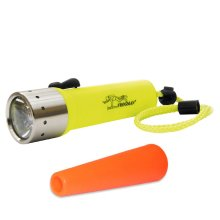 LED Lenser D14 Frogman Neon yellow - 400 Lumens Diving torch with SIGNAL CONE