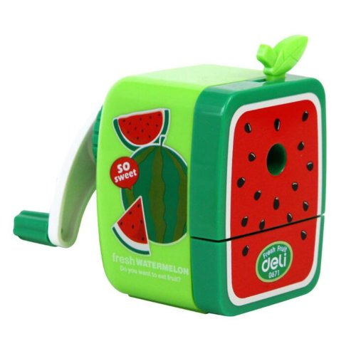 Pencil Sharpener for School, Office Use Watermelon Pattern