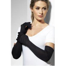 Smiffys Female Gloves - Black -  gloves long black fancy dress costume ladies womens