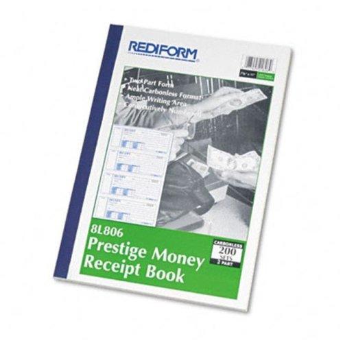 Rediform 8L806 Receipt  2-3/4 x 7  Carbonless Duplicate  200 Sets/Book