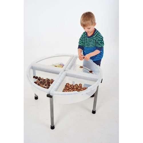 Childrens Exploration Clear Circle Tray & Stand Set (38070)