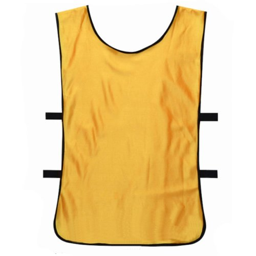 Set of 6 Basketball/Soccer Training/Scrimmage Vests Basketball Jersey, YELLOW