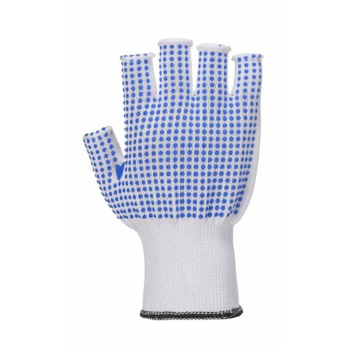 sUw - All Purpose Fingerless PolkaDot Grip Gloves (1 Pair Pack)