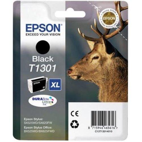 Epson Durabrite Ultra T1301 XL Ink Cart Retail Pack Untagged - Black