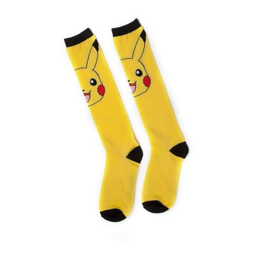 Pokemon Pikachu Kneehigh Knee-High Socks 100 Den - Yellow One Size (KH021005POK)