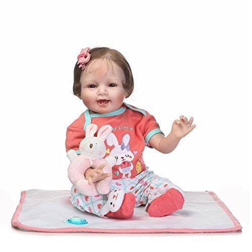 b20df5a92a92e Pinky Lovely 22 Inch 55cm Soft Silicone Babies Reborn Dolls So Truely Lifelike  Realistic Baby Girl Newborn Doll Toddler Birthday Xmas Gift on OnBuy