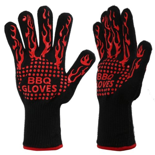 Dr.HeiZ Oven Gloves 932ºF Heat Resistant Gloves for BBQ, Cooking, Baking, Welding or Handling Super Hot Items In the Kitchen or Outdoors 1 Pair