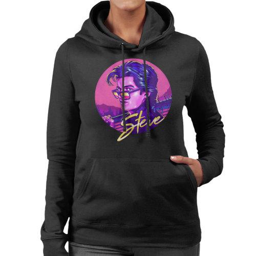 80s Steve Harrington Stranger Things Women's Hooded Sweatshirt