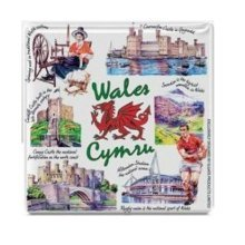 Iconic Welsh Wales Fridge Magnet Souvenir Gift Cymru Collage Red Dragon Castle
