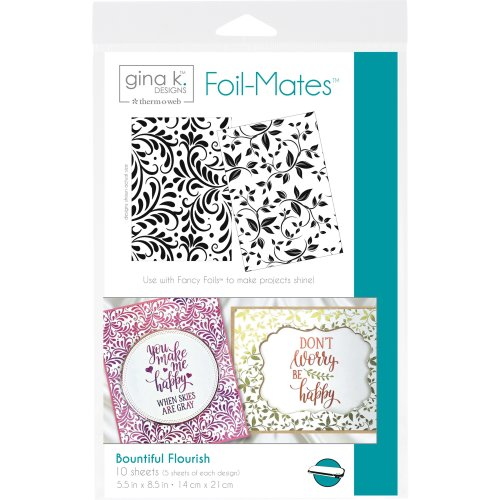 "Gina K Designs Foil-Mates Background 5.5""X8.5"" 10/Pkg-Bountiful Flourish"