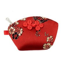 Set of 2 Traditonal Chinese Embroidered Jewelry Coin Pouch Bag Wallet Purses   C