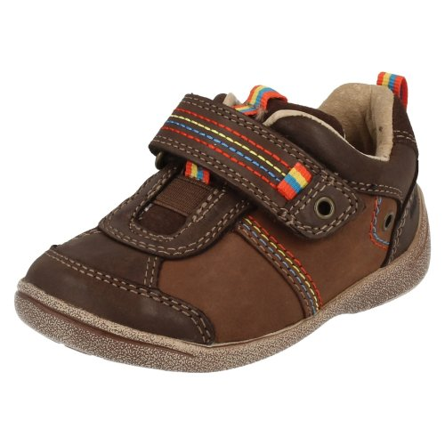 Infant Boys Startrite First Walking Shoes Super Soft Zac - Brown Leather - UK Size 4F - EU Size 20 - US Size 5