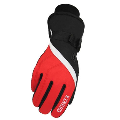Warm Windproof Waterproof Ski Gloves Skiing Gear Winter Sports Gloves for Men, 05
