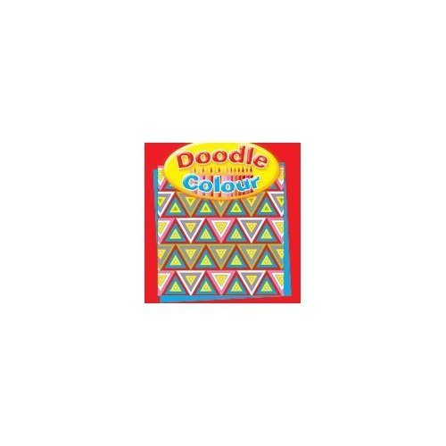 Doodle Colour Drawing Book - Red