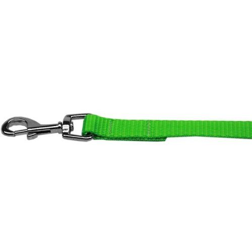 Mirage Pet 124-1 HLG5806 Plain Nylon Pet Leash, Hot Lime Green - 0.62 in. by 6 ft.