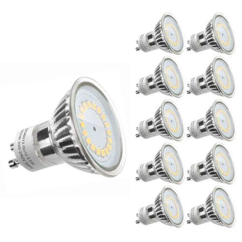 LE 10 Pack MR16 GU10 LED Light Bulbs, Daylight White, Recessed Track Lighting