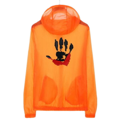 Waterproof Luminous Sun Protective Cool Hand Clothing Cycling Climbing Long Sleeve Shirts-Orange