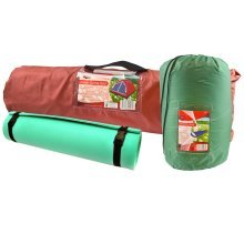Camping Festival Tent Roll Mat Foam Pad Mummy Style Sleeping Bag Dome Tent