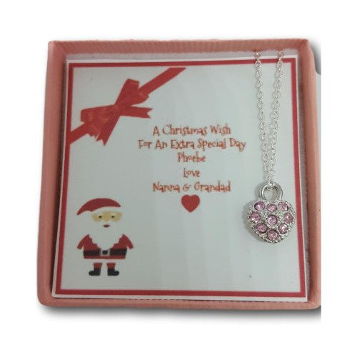 Girls Christmas Xmas Personalised Necklace Gift Present