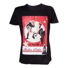 Fallout 4 Adult Male Nuka Cola 'Zap That Thirst!' T-Shirt, Large, Black (Model No. TS201601FOT-L)